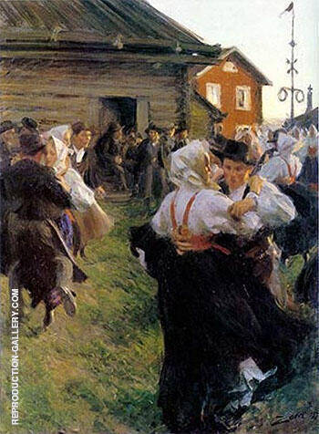 Reproduction of Midsummer Dance 1897 by Anders Zorn | Oil Painting Replica On CanvasReproduction Gallery