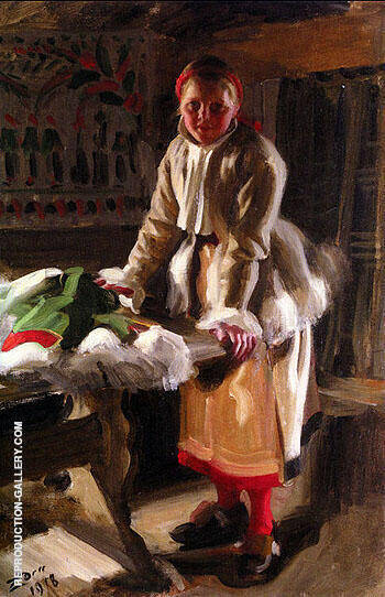 Morakulla I Vinterdrakt By Anders Zorn