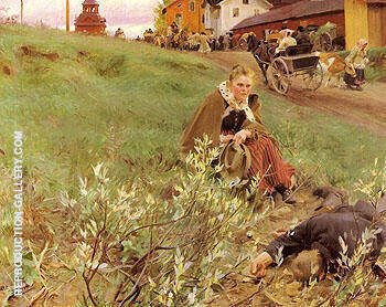 Mora Marknad, The Mora Fair 1892 By Anders Zorn Replica Paintings on Canvas - Reproduction Gallery