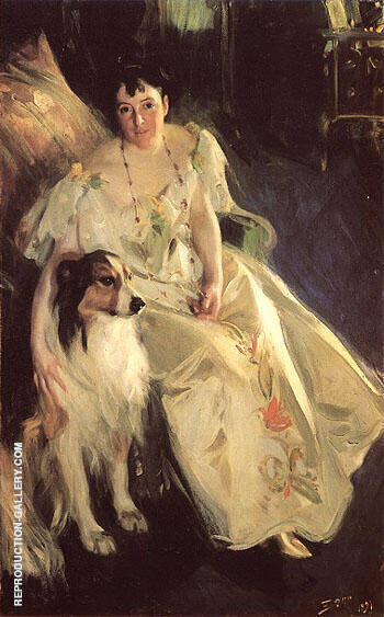 Mrs Bacon 1897 By Anders Zorn Replica Paintings on Canvas - Reproduction Gallery