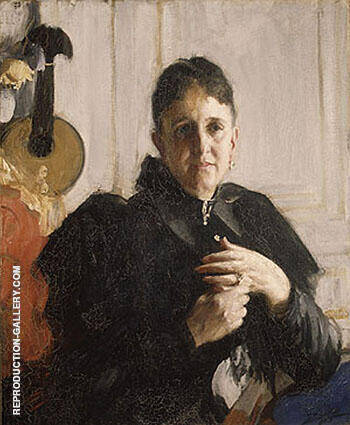 Mrs John Crosby Brown c 1900 By Anders Zorn Replica Paintings on Canvas - Reproduction Gallery