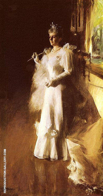 Reproduction of Mrs Potter Palmer by Anders Zorn | Oil Painting Replica On CanvasReproduction Gallery