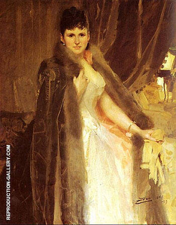 Reproduction of Mrs Symons by Anders Zorn | Oil Painting Replica On CanvasReproduction Gallery