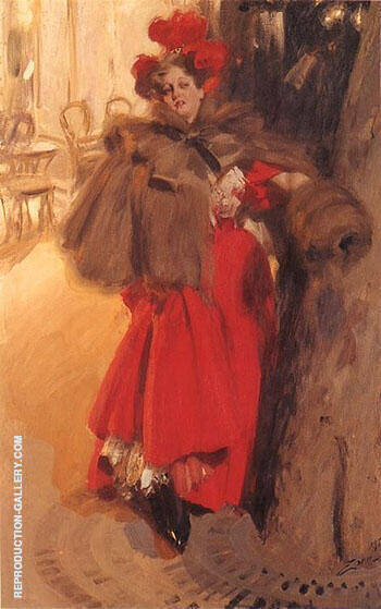 Natteffekt 1895 By Anders Zorn Replica Paintings on Canvas - Reproduction Gallery