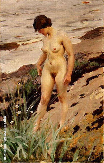 Reproduction of Nude by the Shore 1914 by Anders Zorn | Oil Painting Replica On CanvasReproduction Gallery