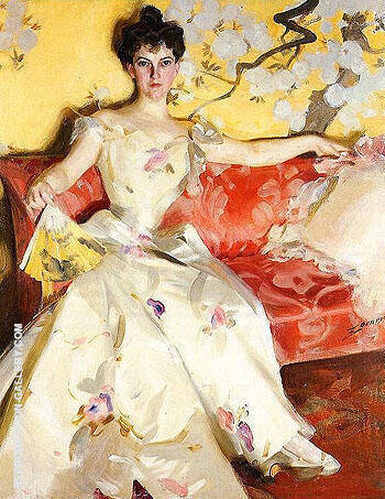Portrait of Elizabeth Sherman Cameron By Anders Zorn