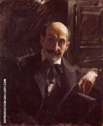 Portrait of Max Liebermann 1891 By Anders Zorn - Oil Paintings & Art Reproductions - Reproduction Gallery