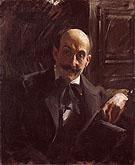Portrait of Max Liebermann 1891 By Anders Zorn