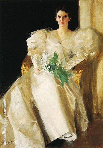 Portrait Of Mrs Eben Richards By Anders Zorn
