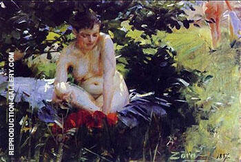 Red Stockings 1887 By Anders Zorn