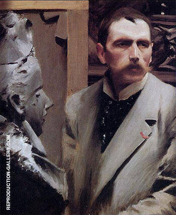 Self-Portrait 1889 By Anders Zorn - Oil Paintings & Art Reproductions - Reproduction Gallery