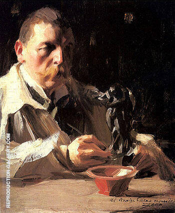 Self-Portrait With Faun and Nymph By Anders Zorn