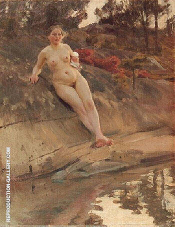 Sunbathing Girl 1913 By Anders Zorn