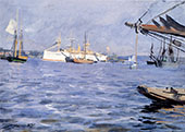 The Battleship Baltimore In Stockholm Harbor 1890 By Anders Zorn