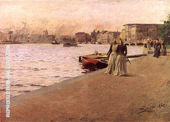 Utsikt Fran Skeppsholmskajen1890 By Anders Zorn Replica Paintings on Canvas - Reproduction Gallery