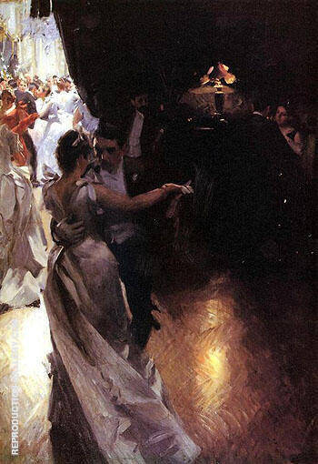 Valser 1891 By Anders Zorn Replica Paintings on Canvas - Reproduction Gallery