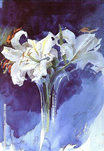 Vita Liljor By Anders Zorn