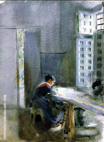 Wallpaper Factory 1884 By Anders Zorn