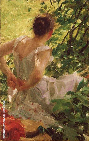 Woman Dressing 1893 By Anders Zorn Replica Paintings on Canvas - Reproduction Gallery