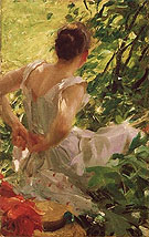 Woman Dressing 1893 By Anders Zorn