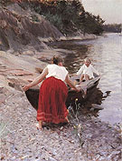 Woman in Red Skirt By Anders Zorn
