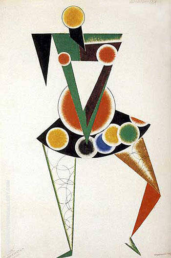 Chanconnette 1920 By Aleksandr Rodchenko - Oil Paintings & Art Reproductions - Reproduction Gallery
