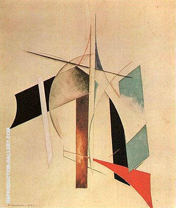 Composition 1918 By Aleksandr Rodchenko - Oil Paintings & Art Reproductions - Reproduction Gallery