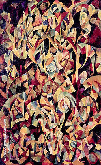Dance 1915 By Aleksandr Rodchenko - Oil Paintings & Art Reproductions - Reproduction Gallery