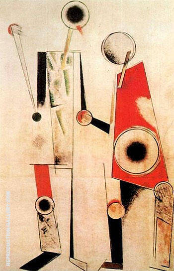 Two Figures Robot 1919 By Aleksandr Rodchenko Replica Paintings on Canvas - Reproduction Gallery