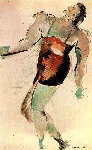 Wrestler 1918 By Aleksandr Rodchenko