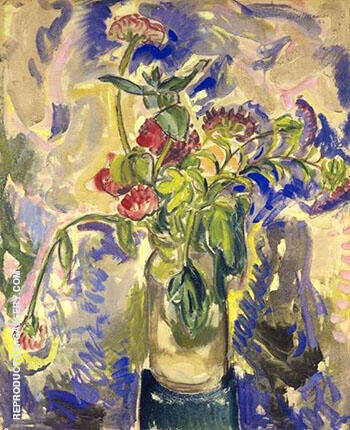 Reproduction of Blue Flowers 1926 by Alfred Henry Maurer | Oil Painting Replica On CanvasReproduction Gallery