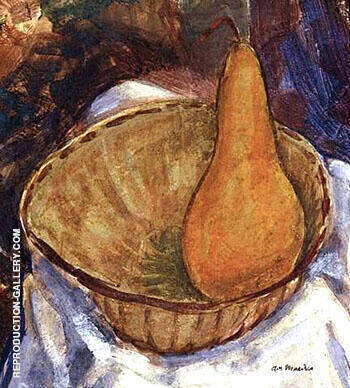 Bowl with Pear Still Life By Alfred Henry Maurer - Oil Paintings & Art Reproductions - Reproduction Gallery