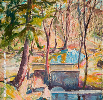 Buckley's Bridge c1917 By Alfred Henry Maurer - Oil Paintings & Art Reproductions - Reproduction Gallery