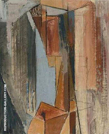 Cubist Head c1928 By Alfred Henry Maurer - Oil Paintings & Art Reproductions - Reproduction Gallery