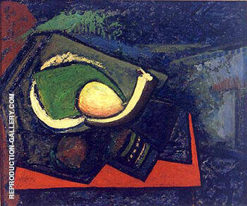 Cubist Still-Life with Pear c1928 By Alfred Henry Maurer Replica Paintings on Canvas - Reproduction Gallery