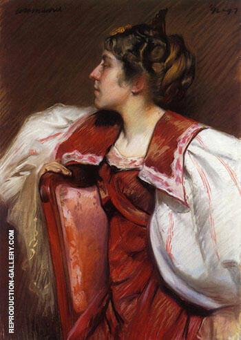 Eugenia Maurer c1897 By Alfred Henry Maurer