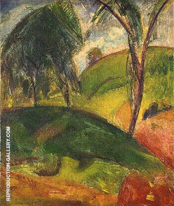 Fauve Landscape with Trees By Alfred Henry Maurer