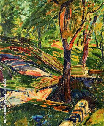 Fenced Landscape c1910 By Alfred Henry Maurer