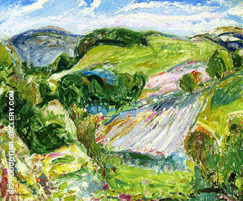 Fields 1912 By Alfred Henry Maurer - Oil Paintings & Art Reproductions - Reproduction Gallery