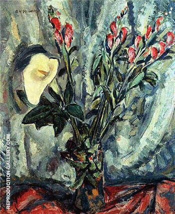 Floral Still-Life with Calla Lily 1928 Painting By Alfred Henry Maurer