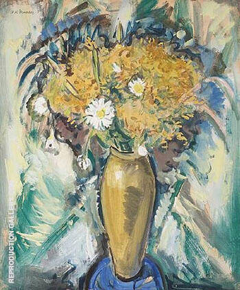 Floral Still-Life in a Gold Vase 1926 By Alfred Henry Maurer - Oil Paintings & Art Reproductions - Reproduction Gallery