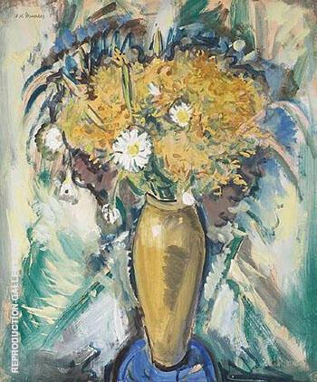 Floral Still-Life in a Gold Vase 1926 By Alfred Henry Maurer