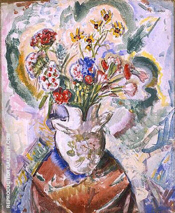 Flower 1926 By Alfred Henry Maurer - Oil Paintings & Art Reproductions - Reproduction Gallery
