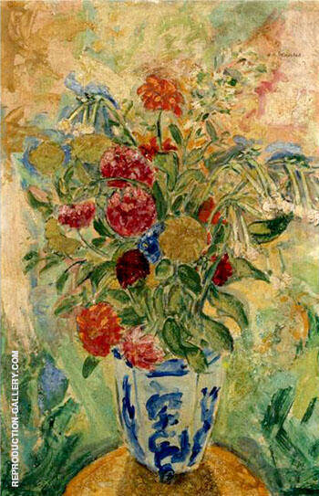 Flowers By Alfred Henry Maurer - Oil Paintings & Art Reproductions - Reproduction Gallery