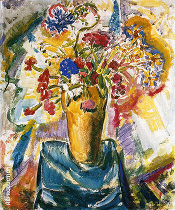 Flowers in a Vase By Alfred Henry Maurer - Oil Paintings & Art Reproductions - Reproduction Gallery