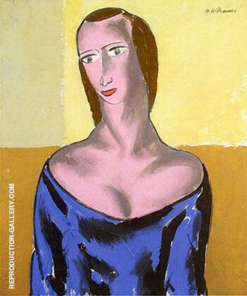 Girl c1923-1 By Alfred Henry Maurer