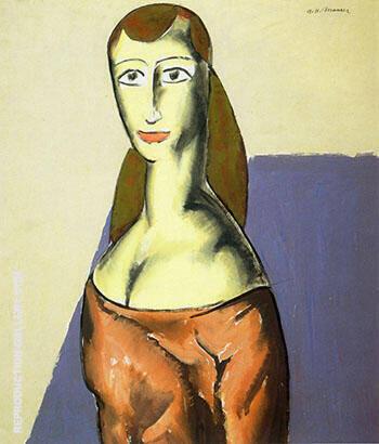 Girl c1923 By Alfred Henry Maurer