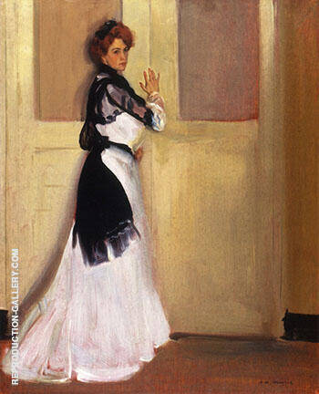 Girl in White c1901 By Alfred Henry Maurer - Oil Paintings & Art Reproductions - Reproduction Gallery
