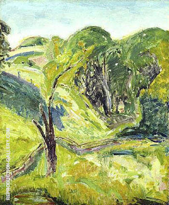 Green Fauve c1912 By Alfred Henry Maurer - Oil Paintings & Art Reproductions - Reproduction Gallery