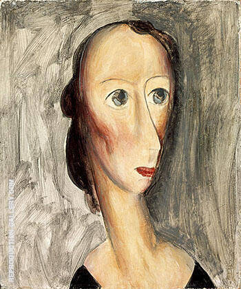 Head c1928 By Alfred Henry Maurer - Oil Paintings & Art Reproductions - Reproduction Gallery